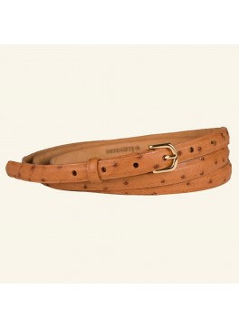 """⅝"""" Double Wrap Quilled Ostrich Belt"""