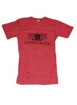 Astor & Black Black on Red Crew