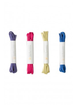 4-Pack Colored Dress Shoelaces (Purple, Pink, Grass, Blue)