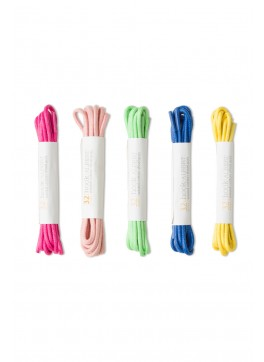 5-Pack Colored Dress Shoelaces (Pink, Light Pink, Lime, Blue, Yellow)