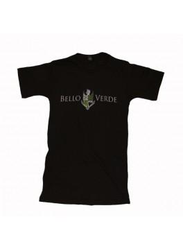Bello Verde White on Black V-Neck