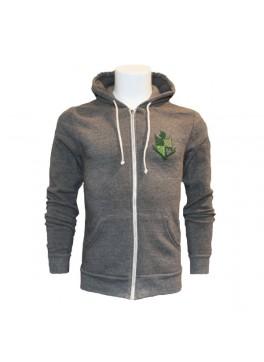 Bello Verde Grey Zip-Up
