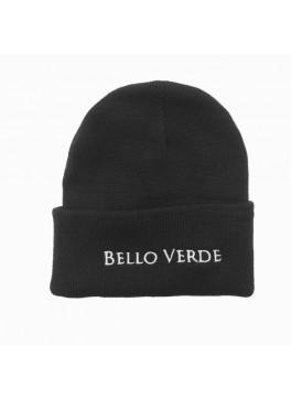 Bello Verde Black Knit Hat