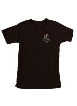 Bello Verde White Shield on Black V-Neck