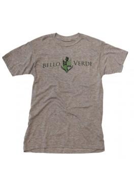 Bello Verde Green on Grey Crew