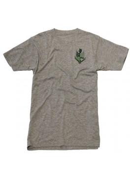 Bello Verde Green Shield on Grey V-Neck