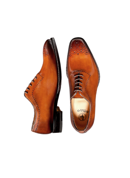 Caramel Deco Toe Lace-up