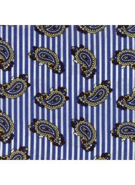 Blue Banker Stripe Paisley (GLD105892)