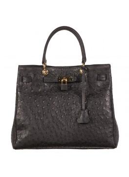 Anna Ostrich Handbag