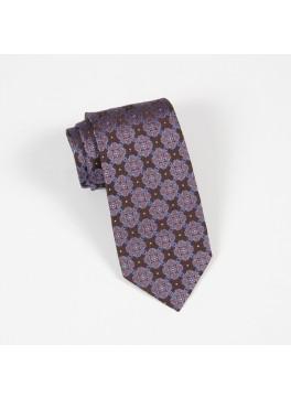 Brown & Blue Jacquard Tie