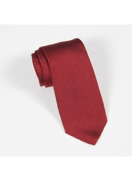 Red Textured Solid Tie