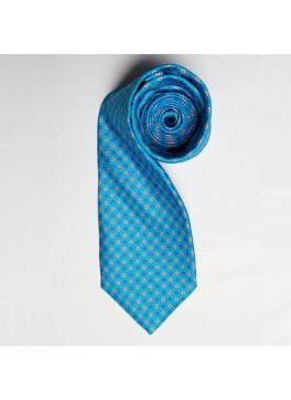 Teal/Orange Floral Print Tie