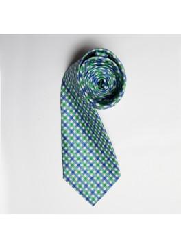 Green/Blue Watercolor Plaid Tie