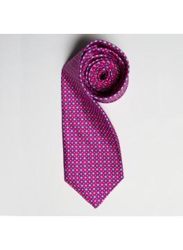Pink/Blue Circle Print Tie
