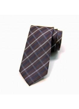 Brown Plaid Tie