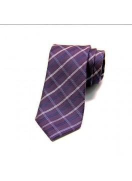 Purple Plaid Tie