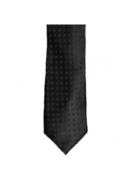 Black Tonal Circle Dot Tie