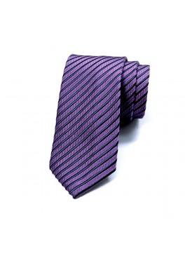 Purple/Navy Stripe Tie