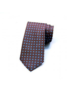 Brown/Blue/Yellow Neat Tie