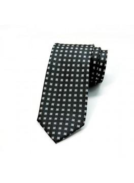 Black/Silver Neat Tie