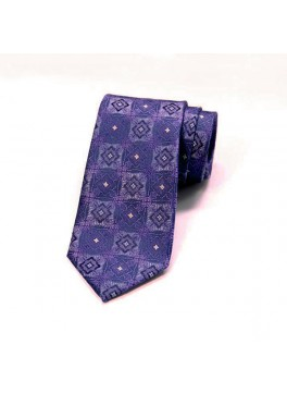 Purple Jacquard Tie