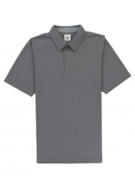 Hampton - Machine Grey Lightweight Pique