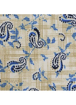 Cream/Blue/White Paisley Print (SV 514119-200)
