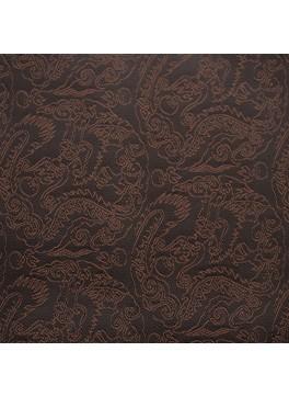 Dark Brown Paisley Jacquard (YZ021)